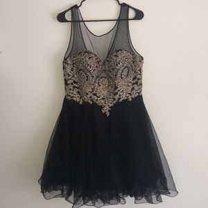Black and gold prom/homecoming dance dress